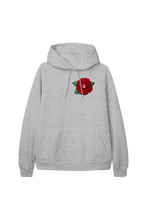 Load image into Gallery viewer, Red Chenille Patch Grey Hoodie