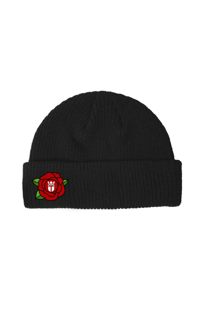 Red Rose Black Beanie