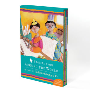Boxed Set 4 Tales Of Prblem Solving & Wit Stories From Around World - Kiddren