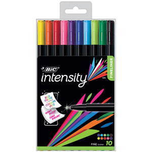 Bic Intensity Fineliner Pens 10pk - Kiddren