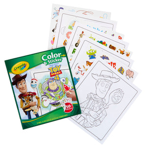 Crayola Color & Sticker Toy Story 4 - Kiddren
