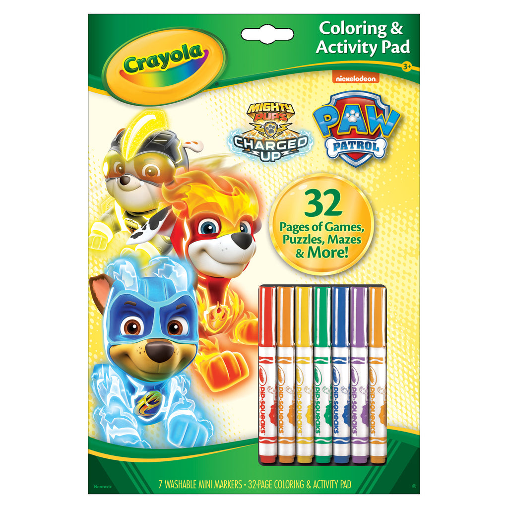 Coloring & Activity Pad Paw Patrol W-markers - Kiddren