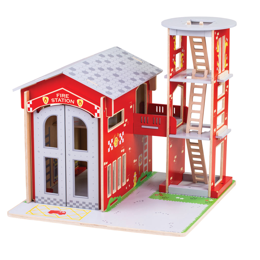 City Fire Station Playset - Kiddren