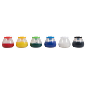 No Spill No Tip Paint Pots Set Of 6 - Kiddren
