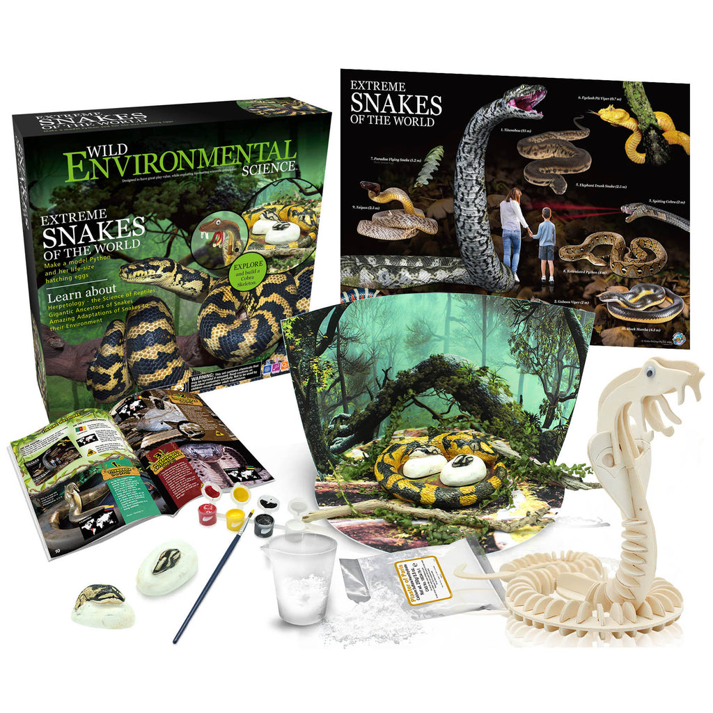 Extreme Science Kit Snakes Of The World Wild Science - Kiddren
