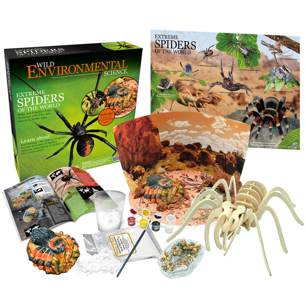Extreme Science Kit Spiders Of The World Wild Science - Kiddren