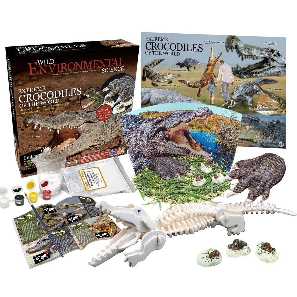 Extrme Science Kit Crocodles Of The World Wild Science - Kiddren