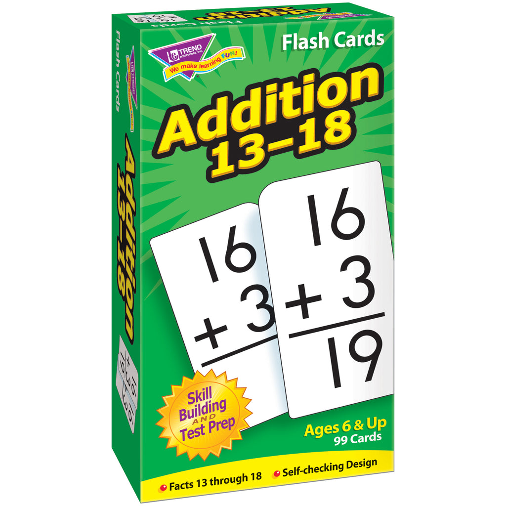 Flash Cards Addition 13-18 99-box - Kiddren