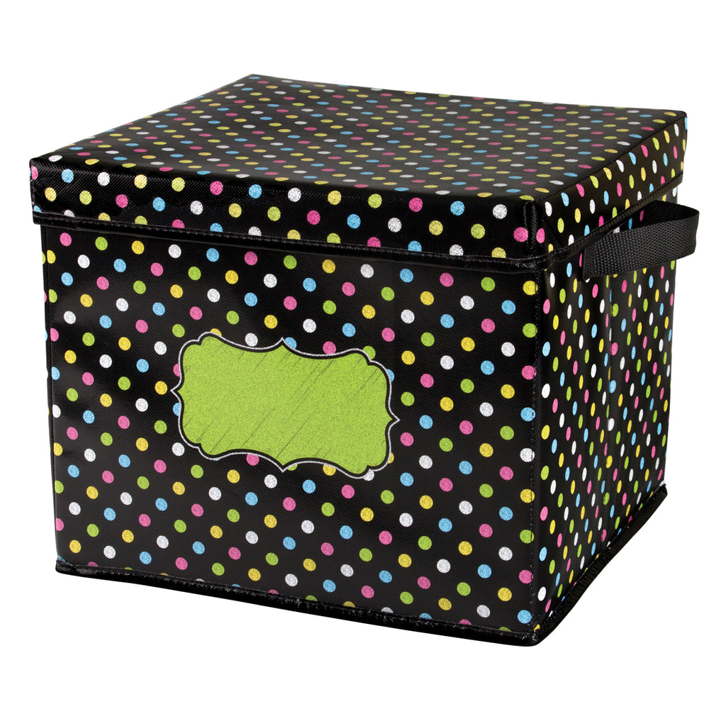 Chalkboard Brights Storage Bins Box 12x12.5x10.5 - Kiddren