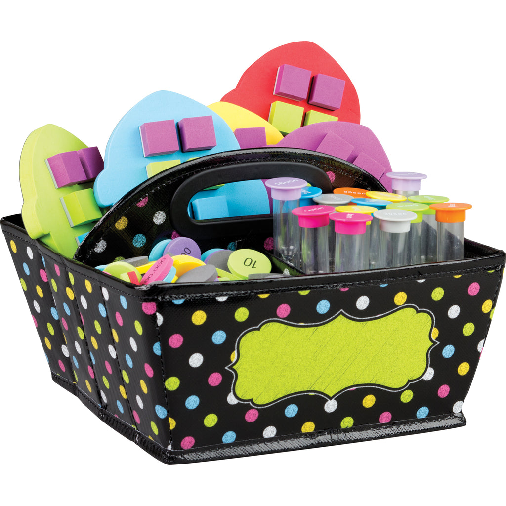 (2 Ea) Chalkboard Brights Storage Caddy - Kiddren