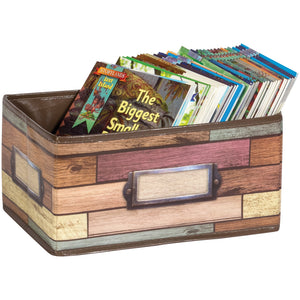 Reclaimed Wood Small Storage Bin - Kiddren