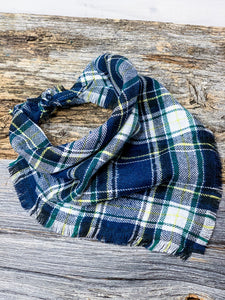 Billy Flannel tie-on Dog Bandana