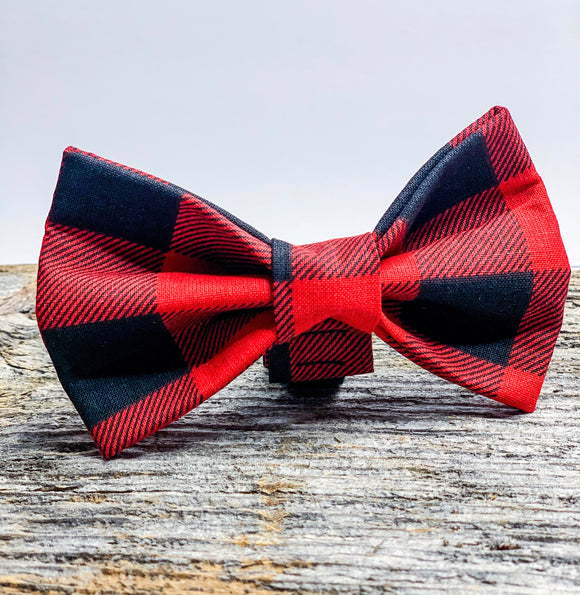 Buffalo Check ( large design ) Doggy Bowtie