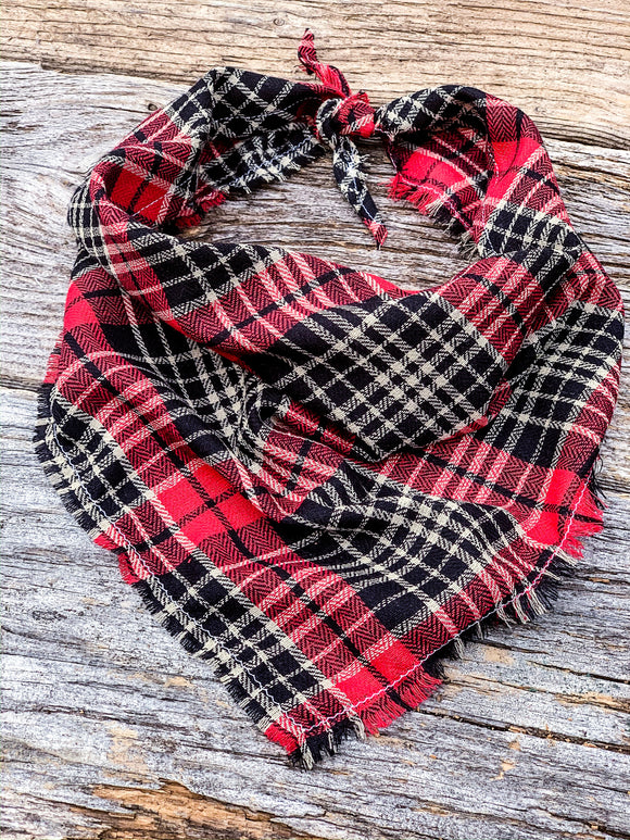 Homestead Flannel Tie - On Bandana