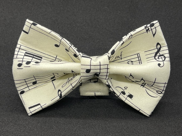 Music Note ( Antique White ) Doggy Bowtie