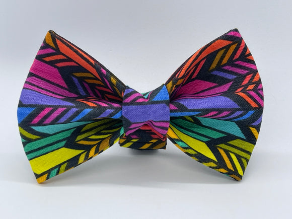 Colourful Arrow Doggy Bowtie