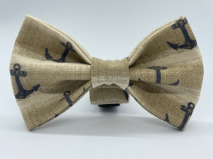 Classic Anchor Doggy Bowtie - Collar sold separately