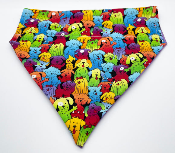 Colourful Dog Slip-On Bandana
