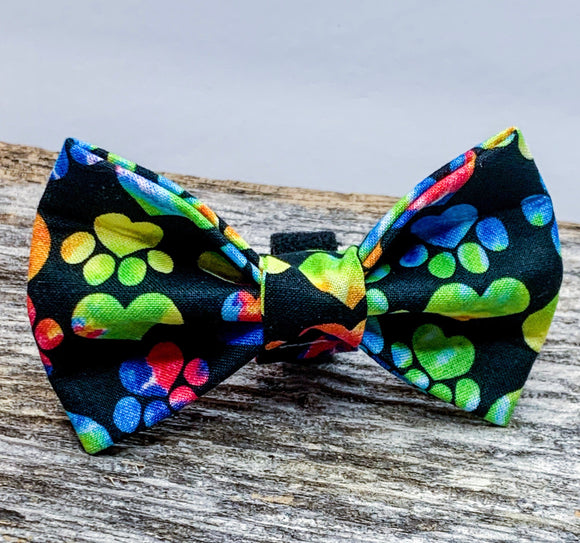 Paws and Hearts Doggy Bowtie