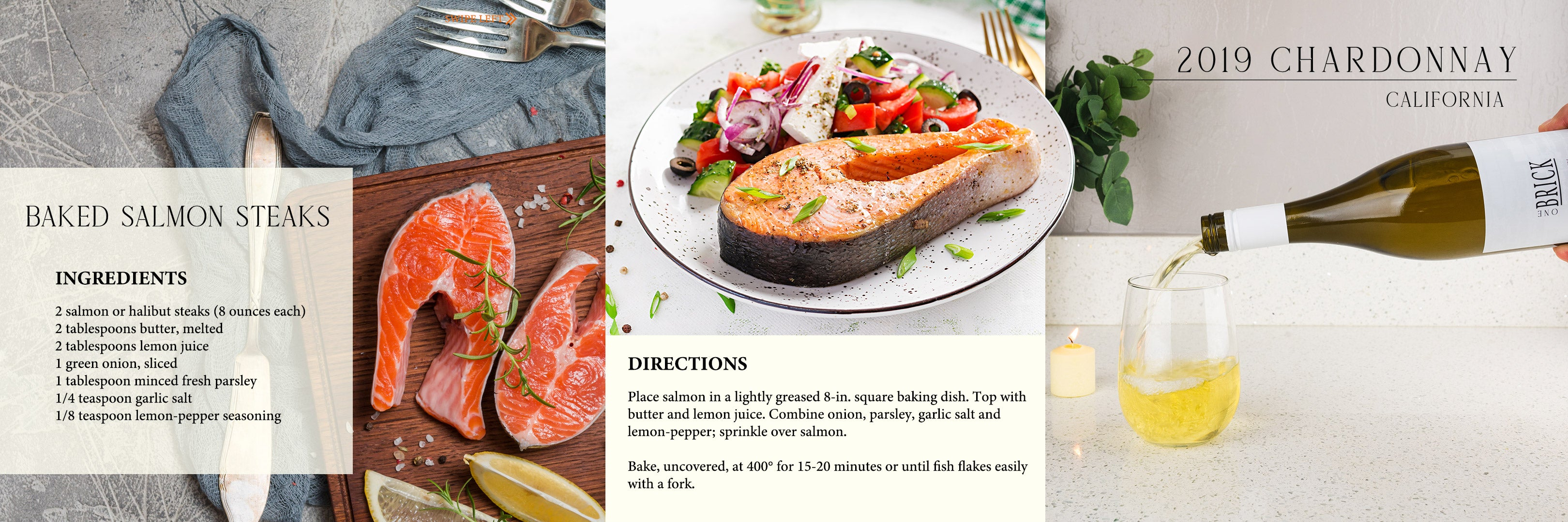 BAKED SALMON STEAKS INFOGRAPHIC