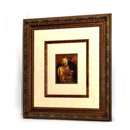 01 Mother & Child Cooper Wall Art Framed