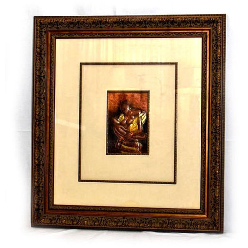 02 Mother & Child Cooper Wall Art Framed