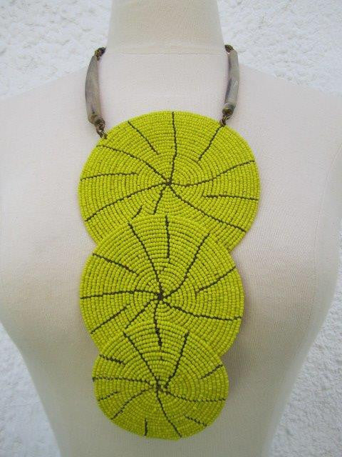 Triple Bound Necklace Yellow