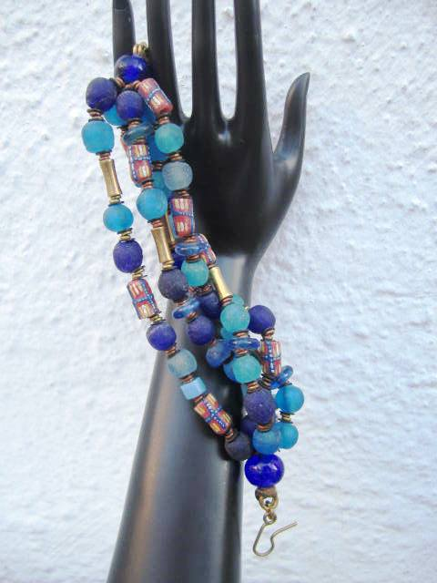 Trade Beads and Recycled Glass Bracelet 3