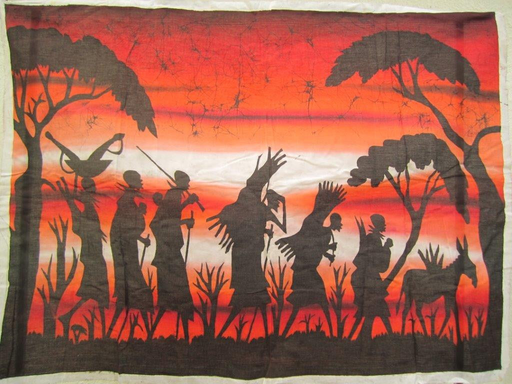 Masai Warrior Sunset Scene Batik 2
