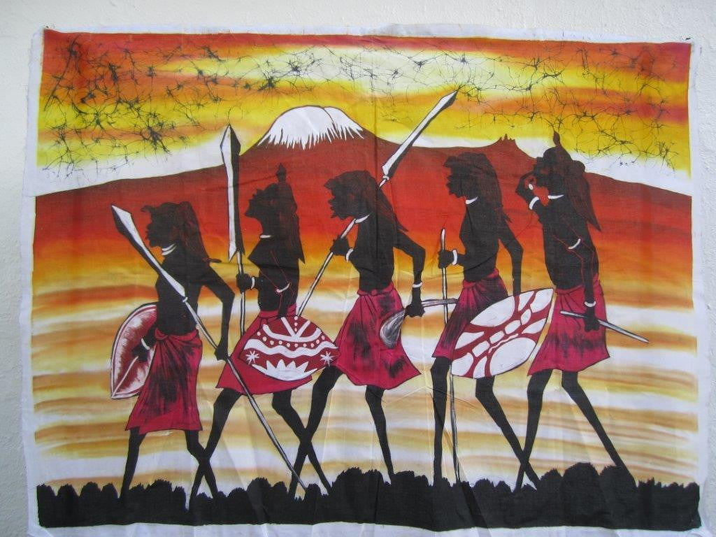 Masai Warrior Rights of Passage Batik