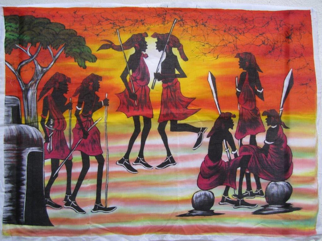 Masai Warrior Dancers Batik 01