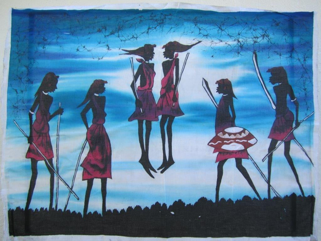 Masai Warrior Dancers Batik 2