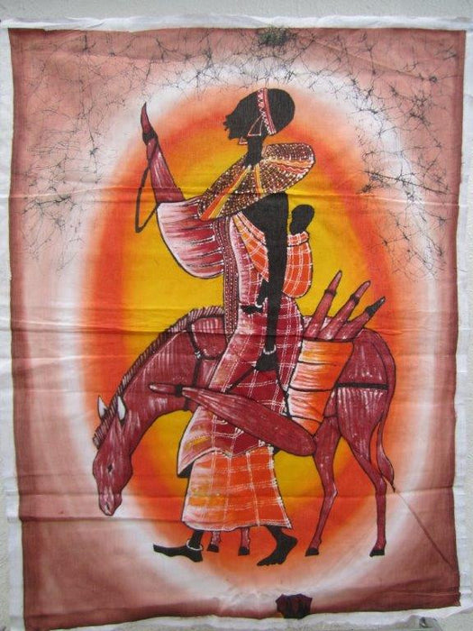 Masai Woman with Donkey Batik