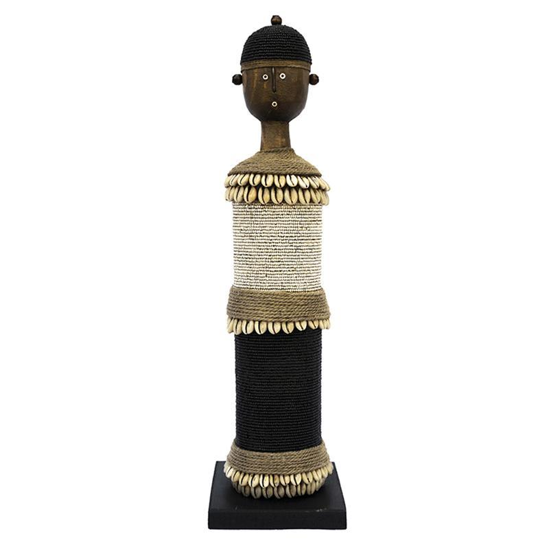 Beaded Namji Doll 53 Black and White