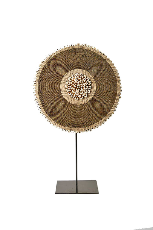 Beaded Cameroon Shield on stand - Gold