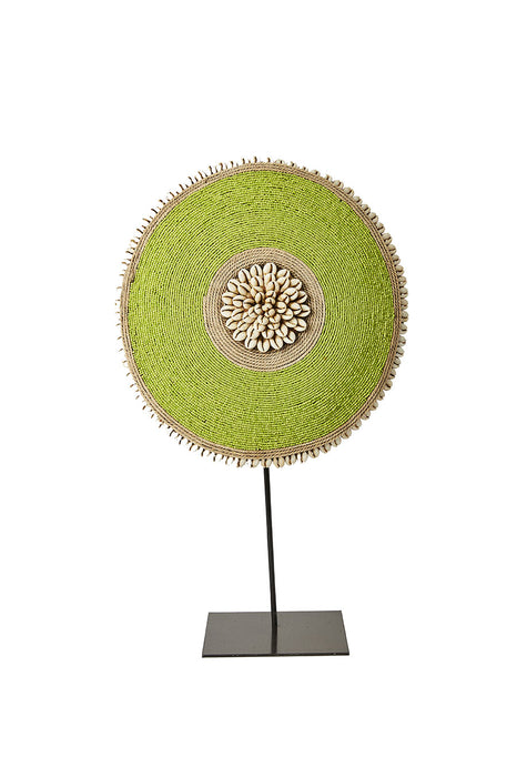 Beaded Cameroon Shield on stand - Green