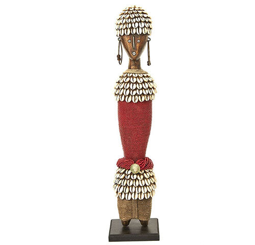 Beaded Namji Doll 14 Red