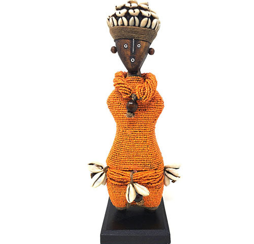 Beaded Namji Doll 28 Orange