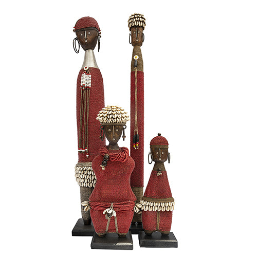 Beaded Namji Doll Red Family 02