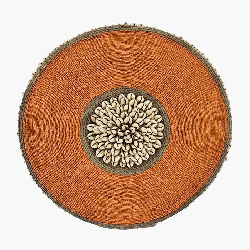 Beaded Cameroon Shield - Orange