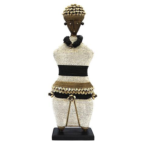 Beaded Namji Doll 02 Black and White