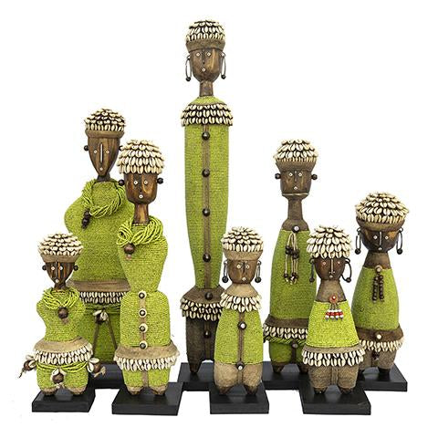 Beaded Namji Doll Green Family 01