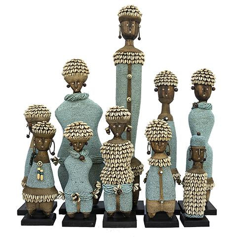 Beaded Namji Doll Family 01 Sky Blue
