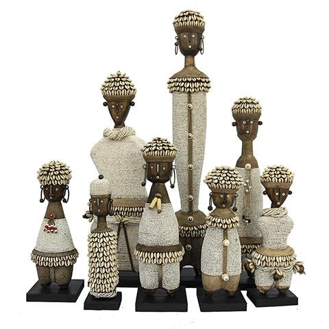Beaded Namji Doll Family 01 White