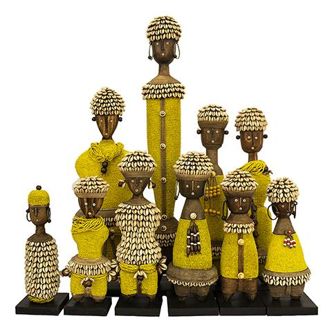 Beaded Namji Doll Family 01 Yellow