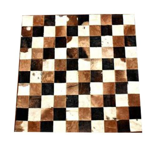Cow Hide Patch Rug 02