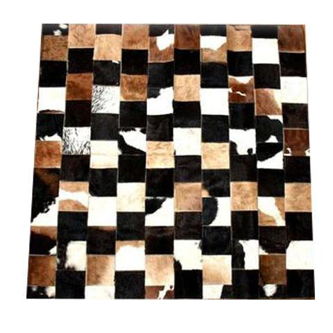 Cow Hide Patch Rug 03