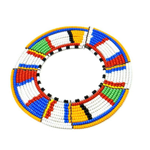 Maasai Disc Beaded Bracelet 13 - Maasai Colors
