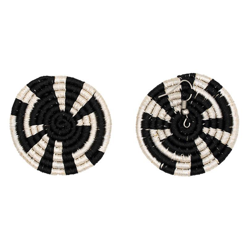Disc Embroidery Earrings 03