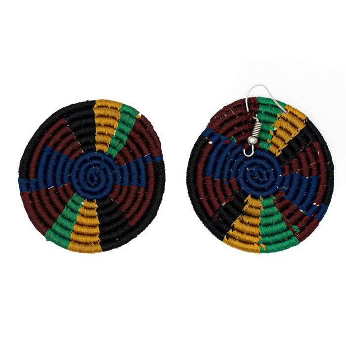 Disc Embroidery Earrings 10